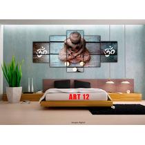 Cuadro Poliptico Buda 2 X 1 Decorativo Modernos Abstracto