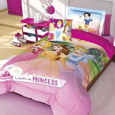 Edredon Princesas Individual Y Funda Disney Providencia   $ 549.00