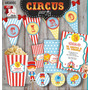 Kit Imprimible Primer Añito Circo Animales Candy Bar