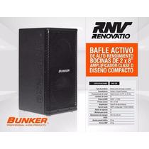 Bafle Activo De 2 Vías Bunker Rnv 2x8 Mdf Winners