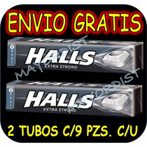 Pastillas Halls Negras 2 Tubos C/9 Pastillas C/u 18 Pastilla