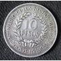Moneda De Plata 10 Pesos Uruguay Gaucho 1961