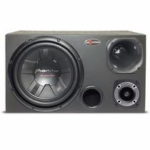 Caixa Som Trio 12 Dutada Subwoofer Pioneer 400w Rms Montada