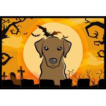 De Halloween Labrador Del Chocolate Mat Interiores O Exterio