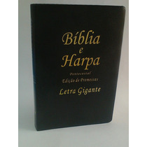 Bíblia Sagrada Letra Gigante Harpa Ed Promessas Com Índice