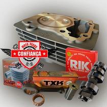 Kit Aumento Cilindrada Titan150 Pistao 70mm + Comando 330°