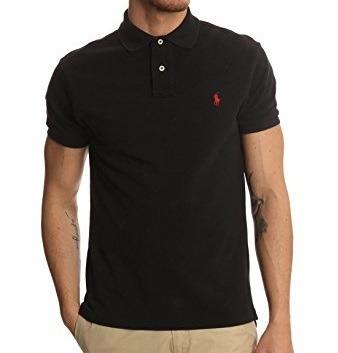 Camisa Polo Ralph Lauren Preta Lisa Masculino - R  99 bab016b4dab