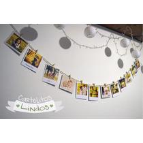 Guirnalda De Fotos Polaroid Con Mini Broches