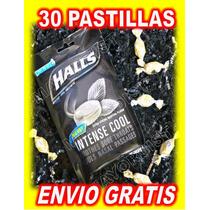 Pastillas Halls Negras Intense Cool Extra Strong Menthol 30p