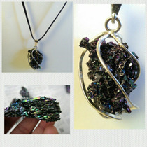 Collar Cuarzo Silicio,proteccion,energias,chakras,joyas,aura