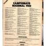Fixture Campeonato Nacional Futbol Clipping 1 Pag Año 1980