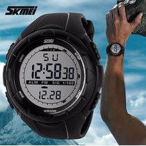 Relógio Skmei 1025 Preto - Ganhe 1 Porta-latas Da Hora!!!!