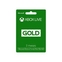 Membrecia De Xbox Live Gold 3 Meses ¡oferta!