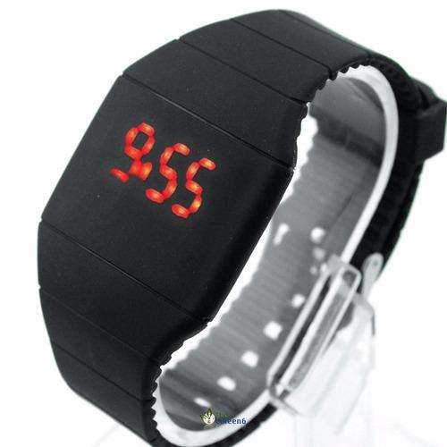 02ad40aa81c Relógio Masculino Digital Led Touch Silicone Promoção Barato - R  12 ...
