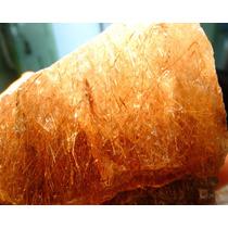Lote Com 1 Kg Quartzo Rutilado Natural Bruto Graudo