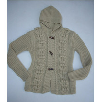 Precioso Chaleco Sweater Muy Abrigador En Lana Cruda.