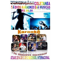 16 Dvds Coletânea Karaokê 2015 Sertanejo Pop Rock Atuais Cd