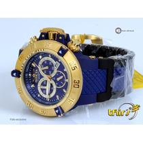 Invicta Subaqua 0929 Azul Banhado A Ouro 18k