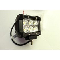 Faro Led 18w Off Road,luz 6000k Spot O Flood 6 Leds Epistar