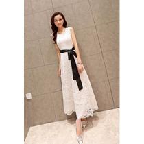 Elegantes Vestidos De Novia Blanco Con Cinto Negro