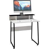 Mesa Para Computador Compacta Multivisão Jobbrpr Branca/pre