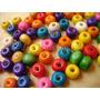 Bolitas De Madera X500 Gramos Colores Surtidos Bijou Cuentas