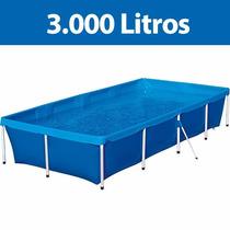 Piscina Infantil 3.000 Litros Mor Lona Pvc 3,20x1,64x0,58m