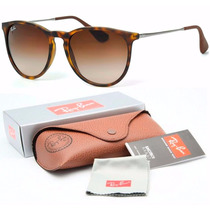 Óculos De Sol Ray Ban Feminino Erika Tartaruga Velvet Marrom