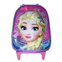 Mochila Frozen Rodinhas Infantil Escolar 3d Tam. Medio