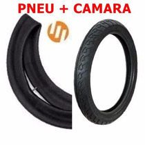 Pneu Tras Fan 150/titan 125/cg/ybr/factor 90/90-18 + Camara
