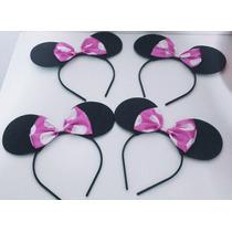 Tiara Da Minnie E Mickey (rosa Ou Vermelha)