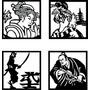 Kit De 4 Quadros Orientais Vazados Painéis Escultura Mdf