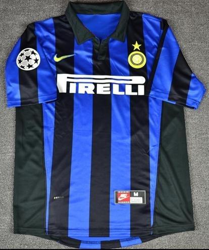 e672409c67572 Camiseta Inter De Milan Ivan Zamorano Ronaldo -   39.990 en Mercado Libre