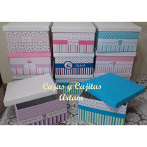 Cajas De Cartón Forradas - Ajuares De Bebés