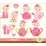 Kit Imprimible Baby Shower Nena Imagenes Clipart Cod 6