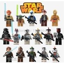 Figuras Star Wars Dar Vader Yoda Anakin 8 Figuras Para Armar