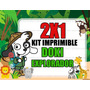 Kit Imprimible Doki Safari Discovery Kids 2x1