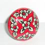 Flores blancas y rojo. circular 4,5cm Nº 1126
