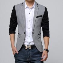 Blazer Slim Fit Luxo Casual Masculino Importado - Promoção