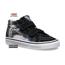Zapatillas Vans Sk8 Mid Reissue Shark Velcro Kids Original