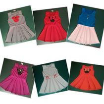 Vestidos Niña Minnie Lunares Casuales Fiesta Harem Hermosos
