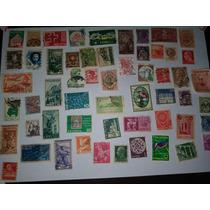 Coleção De Selos Antigos - 125 Unidades