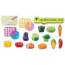 Hortifruti Legumes Comidinha De Brinquedo Com Velcro Braskit