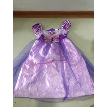 Disfraz De Rapunzel Princesa Disney Con Su Peluca Como Nuevo