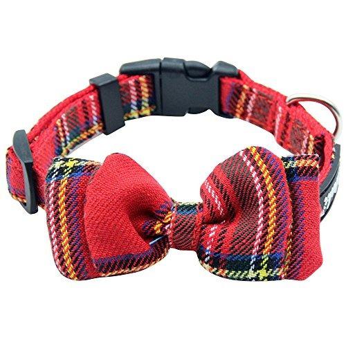 28fc5a6205c8 Collar Para Perro De Tela A Cuadros Con Lazo Ajustable Es - S  120 ...
