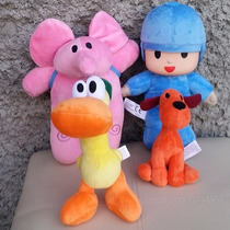 4 Peluches Pocoyo Elly Pato Loula