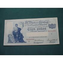 Billete Argentina 100 Pesos Progreso # 1896