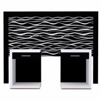 Combo Respaldo Sommier + 2 Mesas De Luz Diseño Exclusivo