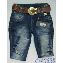 Calça Feminina Jeans Oppnus Cós Médio Lycra 2528