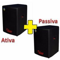 Kit Caixa Ativa+passiva Leacs Pulps 480 Watts King Musical